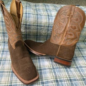 NOCONA brown leather western cowboy boots 11.5